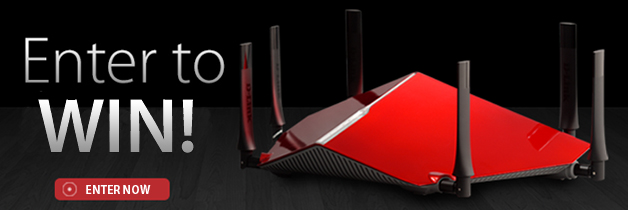 enter now to win your very own ac3200 ultra wi fi router